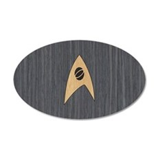 STARTREK TOS SCI WOOD 1 20x12 Oval Wall Decal