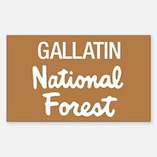 Gallatin National Forest (Sign) Sticker (Rectangul