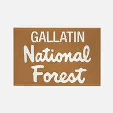 Gallatin National Forest (Sign) Rectangle Magnet