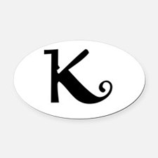 K Oval Car Magnet