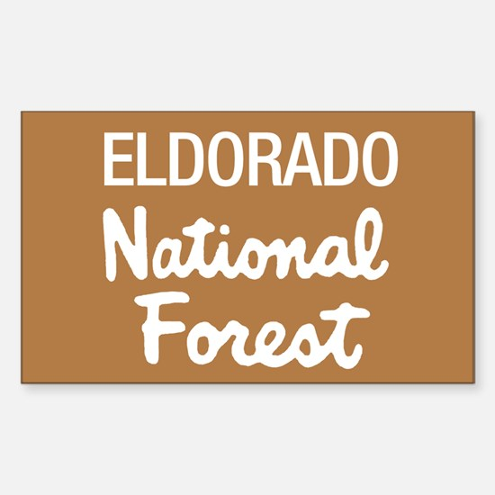Eldorado National Forest (Sign) Sticker (Rectangul