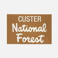Custer National Forest (Sign) Rectangle Magnet