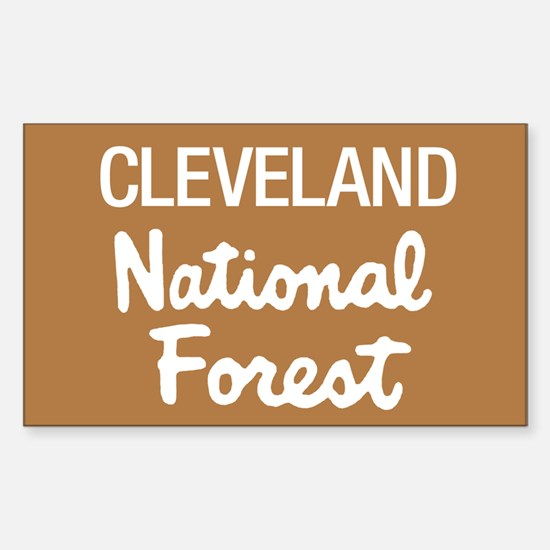 Cleveland National Forest (Sign) Sticker (Rectangu