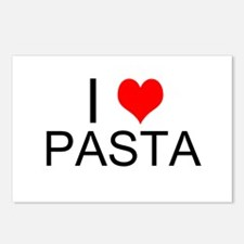 I Heart Pasta Postcards (Package of 8)