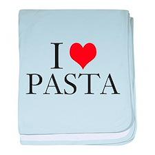 I Heart Pasta baby blanket