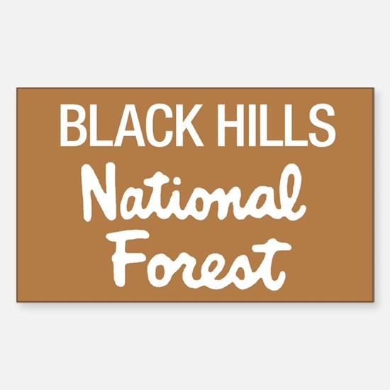 Black Hills (Sign) National F Sticker (Rectangular
