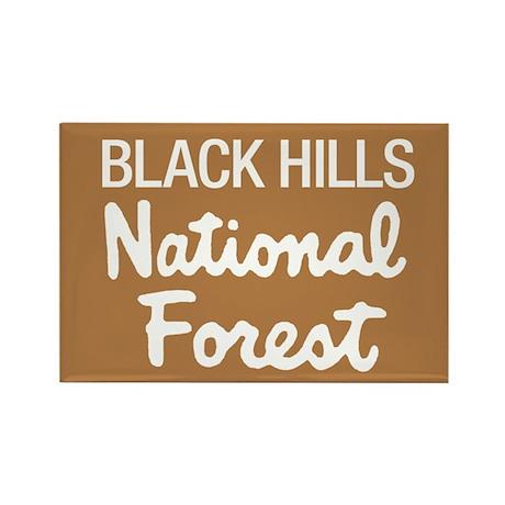 Black Hills (Sign) National F Rectangle Magnet
