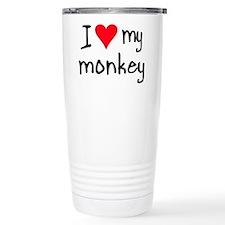 Unique Monkey Stainless Steel Travel Mug