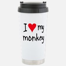 Unique Monkey Stainless Steel Travel Mug