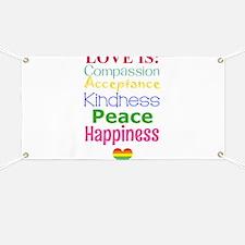 Gay Pride Love Is... Banner