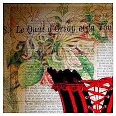hot corset vintage paris Poster