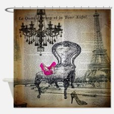 french rococo vintage paris Shower Curtain