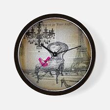 french rococo vintage paris Wall Clock