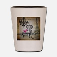 french rococo vintage paris Shot Glass