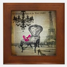 french rococo vintage paris Framed Tile