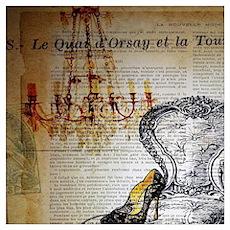 french rococo vintage paris Poster