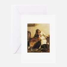 Girl and Collie Greeting Card