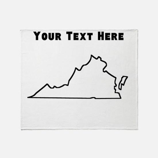 Virginia Outline (Custom) Throw Blanket