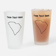 South Carolina Outline (Custom) Drinking Glass