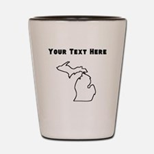Michigan Outline (Custom) Shot Glass