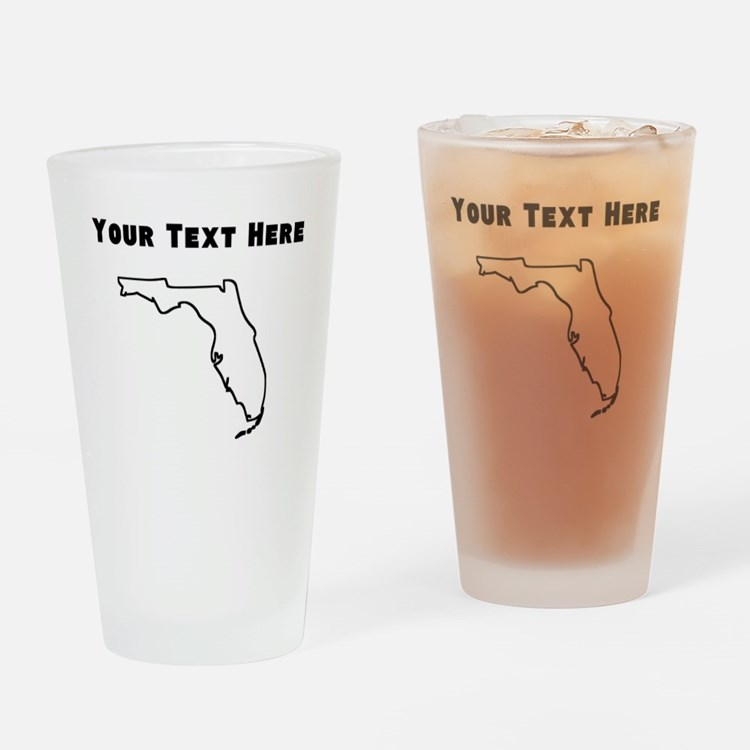 Florida Outline (Custom) Drinking Glass