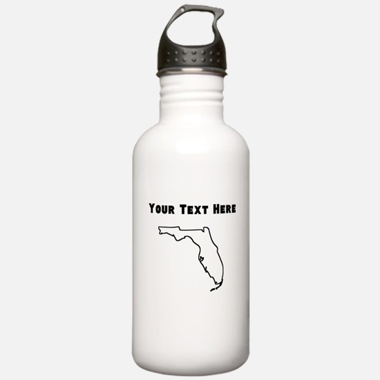 Florida Outline (Custom) Water Bottle