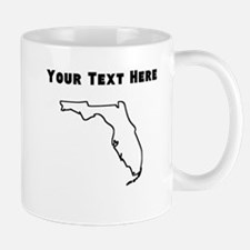 Florida Outline (Custom) Mugs