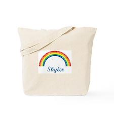 Skyler vintage rainbow Tote Bag