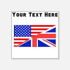 British American Flag Sticker