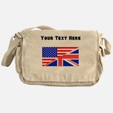 British American Flag Messenger Bag