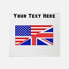 British American Flag Throw Blanket