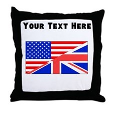 British American Flag Throw Pillow