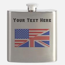 British American Flag Flask