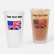 British American Flag Drinking Glass