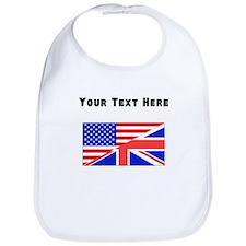 British American Flag Bib