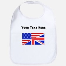British American Flag Bib