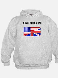 British American Flag Hoodie