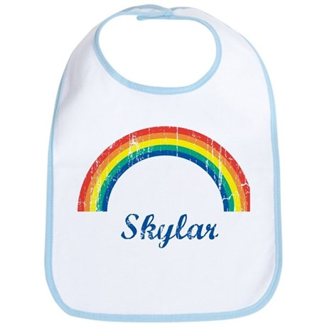 Skylar vintage rainbow Bib