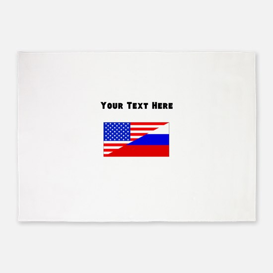 Russian American Flag 5'x7'Area Rug