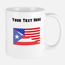 Puerto Rican American Flag Mugs