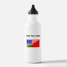 Portuguese American Flag Water Bottle