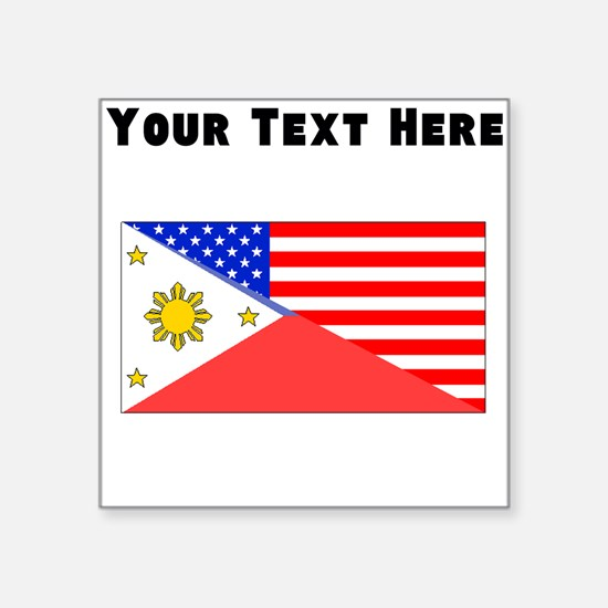 Filipino American Flag Sticker