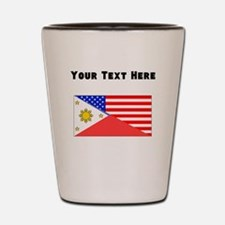 Filipino American Flag Shot Glass