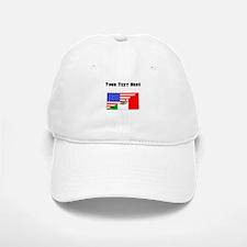 Mexican American Flag Baseball Cap