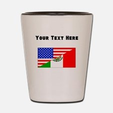 Mexican American Flag Shot Glass