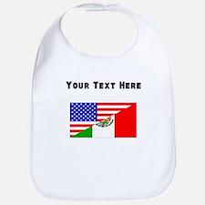 Mexican American Flag Bib