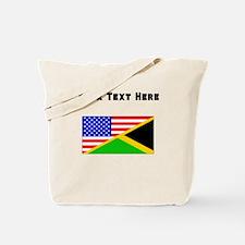 Jamaican American Flag Tote Bag