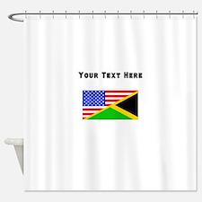 Jamaican American Flag Shower Curtain