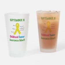 Cute Yellow ribbon cancer sarcoma candles Drinking Glass