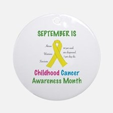 Cute Childhood cancer awareness Round Ornament